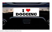 150x50mm Aprox I Love dogging-Etiqueta impresa coche decal broma divertida