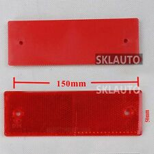 2x Red Rectangular Reflectors for Trailers Caravan Gateposts Truck