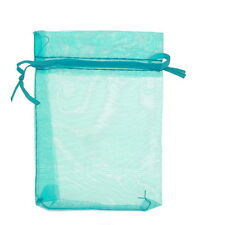 25pcs 9x12cm Lightblue Organza Jewelry Gift Pouch Bags Wedding X-mas Favor