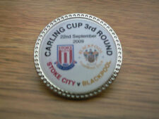 Stoke City fc v Blackpool  fc  Carling cup 3rd round  Badge 2009