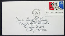 Statue of Liberty Patriotic US COVER FDC Hempstead 18c USA lettera Lupo (h-10196