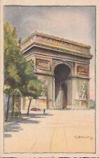 KAPPYSSTAMPS PC20 UNUSED R HAMEL PARIS PAINTED BY G LAFORGE  '40 ARC DE TRIUMPH