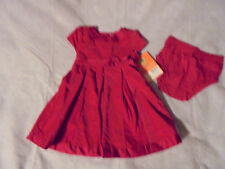 "NWT~CARTERS~""Dress Me Up"" Red Velour SS Dress & Blmr~Sz 18m~$32 ret"