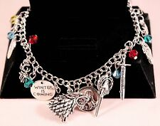 Ultimate Game of Thrones Alloy Charm Bracelet w/Free Jewelry Box and Shipping