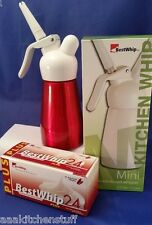 Whip Cream Charger Dispenser and 24 BestWhip PLUS N20 cartridges 1/2pt R + BW+24