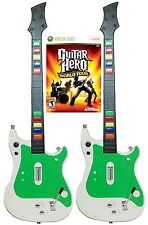 NEW XBox 360 World Tour Video Game + 2 x Wireless GUITAR Hero Controller bundle