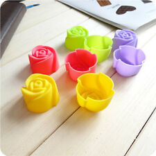 Hot 8pcs Rose Muffin Cookie Cup Cake Baking Chocolate Jelly Maker Mold Mould New