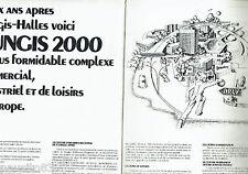PUBLICITE ADVERTISING 016  1971  COMPLEXE COMMERCIAL RUNGIS-HALLES 2000  ( 2p)