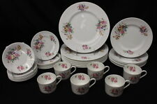 35 Pc Coalport Bone China JUNETIME Pattern w/Smooth Rim, Service for 8, England