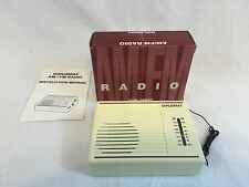 Vintage AM/FM Diplomat Pocket Transistor Radio with Box & Instructions
