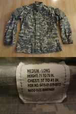 Mens Proper International L Long BDU Uniform Coat Army Combat Authentic Military