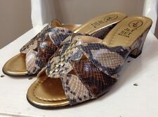 Jet Set Size 39 / 6 Mock Croc Leather Heeled Mules Worn Twice Exc Cond