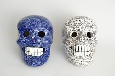 Day of the Dead Sugar Skulls Dia de Los Muertos, Clay Talavera, Folk Art SET
