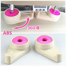 2 Pcs Pink ABS & Silicone Rubber Car SUV Seat Headrest Clothes Bags Hanger Hook