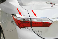 Chrome Rear Tail Light Taillight Lamp Cover Trim For 2014 Toyota Corolla
