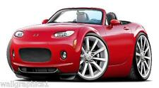 2006-8 Mazda Miata MX-5 Cartoon Car Art Wall Graphic Art Decal Vinyl Cling NEW!