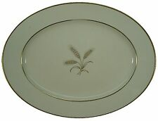 ROSENTHAL china 5176 GOLDEN WHEAT pattern OVAL MEAT Serving PLATTER 14-3/4""
