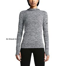 Nike Women's Pro Hyperwarm Limitless Pullover Training Hoodie M Gray Gym Casual