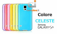 COVER CUSTODIA ULTRA SLIM PLASTICA 0.3mm SAMSUNG GALAXY S5 i9600 G900 CELESTE