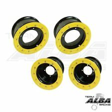 YFZ 450 450R  Front   Rear Wheels  Beadlock  10x5 and 9x8  Alba Racing  B/Y   41