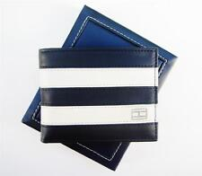 NEW TOMMY HILFIGER PASSCASE LEATHER MEN'S WORCHESTER NAVY/BONE CARD WALLET