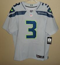 NWT 40 NIKE AUTHENTIC ELITE SEATTLE SEAHAWKS WILSON #3 FOOTBALL GAME JERSEY $295