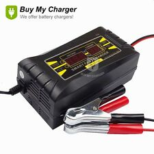 Genuine12V 10A AMP 20~ 150ah Smart Car Motorcycle Battery Charger LCD Display