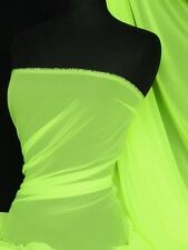 Neon Yellow Green  soft touch chiffon sheer fabric material Q354 NYLGR