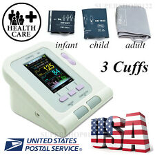 USA Stock,Digital Blood Pressure Monitor,CONTEC08A Color LCD Display 3 free cuff