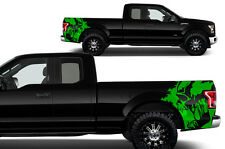Custom Graphics Vinyl Decal Rear Wrap Kit for 2015-2017 Ford F-150 SCREAM Green