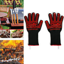 MANSOV Set of 2 Silicone Heat Resistant BBQ Grill Gloves Kitchen Oven Mitts&Pot