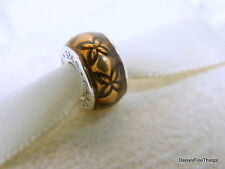 NEW! AUTHENTIC PANDORA CHARM VINTAGE FLORAL GOLDEN ENAMEL SPACER #791034EN29