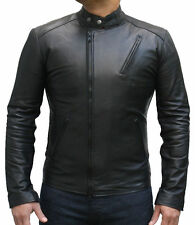 Iron Man Men Leather Biker jacket,Brand New Black Bomber Jacket Coat Designer