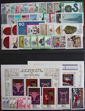 Germany Complete Year 1977 Stamp Set + C/Ds & Souvenir Singles MNH German Stamps