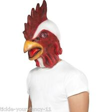 Smiffy's Men's Chicken Rooster Hen Over The Head Fancy Dress Mask Stag Farm Fun