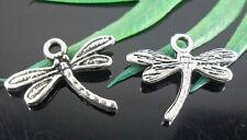 Free Ship 140Pcs Tibetan Silver Dragonfly Charms Pendants 18x12mm