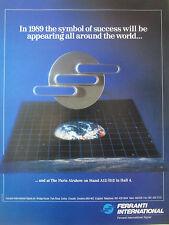 6/1989 PUB FERRANTI INTERNATIONAL SIGNAL PARIS AIRSHOW ORIGINAL AD