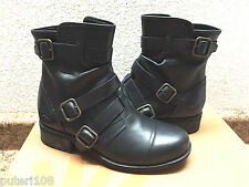 UGG FINNEY BLACK BIKERS BOOTS USA 8 / EU 39 / UK 6.5