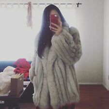 SAGA FOX VINTAGE AMAZING REAL FOX FUR COAT FOX JACKET BEAUTIFUL SIZE S
