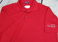 Men's Pizza Hut Golf Polo Work Shirt Uniform XL Red