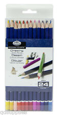 24 ROYAL LANGNICKEL ESSENTIALS ARTIST COLOUR COLOURING DRAWING PENCILS PEN24