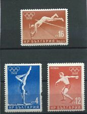 BULGARIA, 1956 OLYMPICS , SET OF 3  , PERF, MNH