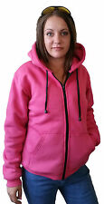 New PINK Ladies Motorcycle Hoodie Kevlar® Lined & CE Removable Armour Size 6- 20