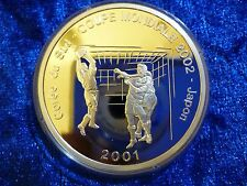 Congo DRC Silver Proof 10 Francs 2001 - World Cup 2002 Japan .925 25.83g
