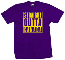 Straight Outta Canada T-Shirt - Canuck Canadian Flag Parody - All Sizes & Colors