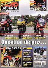 MOTO JOURNAL 1412 BMW F650 GS YAMAHA XJ 600 FZS SUZUKI Bandit MARTIN TOUQUET