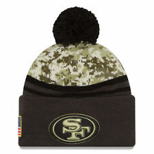 San Francisco 49ers New Era Salute To Service Sideline Pom Knit Hat - Camo/Graph