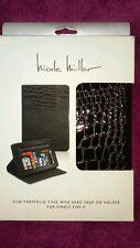 Nicole Miller Black Croc Texture Case for Kindle Fire 2