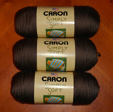 Caron Simply Soft Yarn Lot Of 3 Skeins (Taupe #9783) 6 oz.