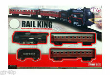 RAIL KING Classical Train Toy Set Locomotive with Light Track Battery Operated